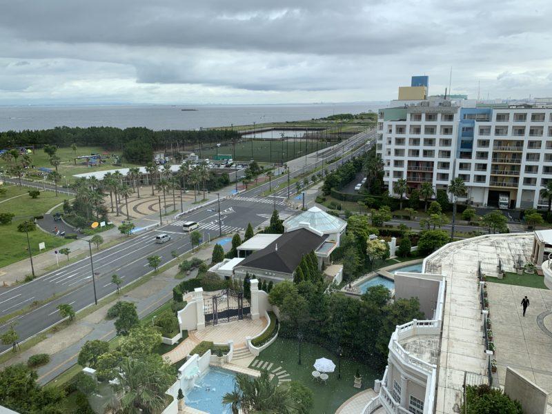 ハイアットプレイス東京ベイの客室から見える景色