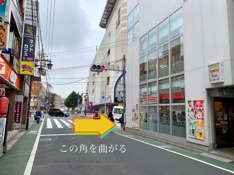 東武練馬駅前の道