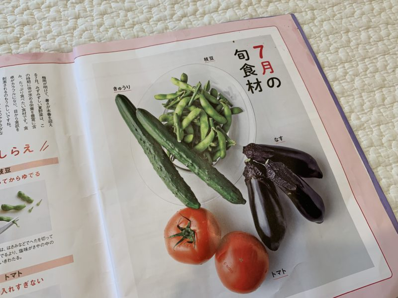 献立カレンダーの旬食材