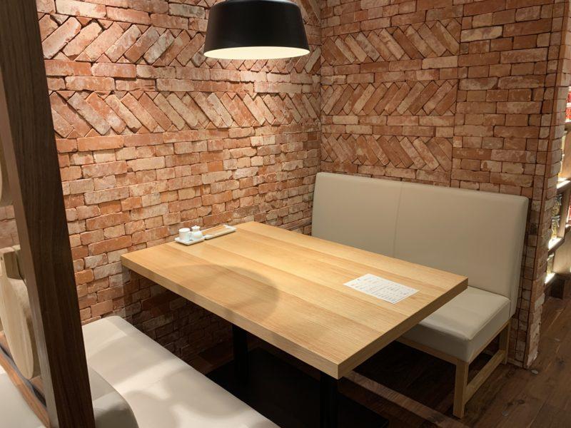 MUJI Dinerの座席